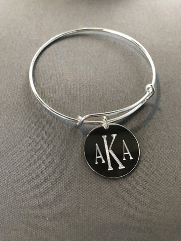 Alpha Kappa Alpha Single Charm Bracelet