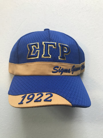 SGRho Greek Letter Baseball Cap with Organization Name and Founding Year