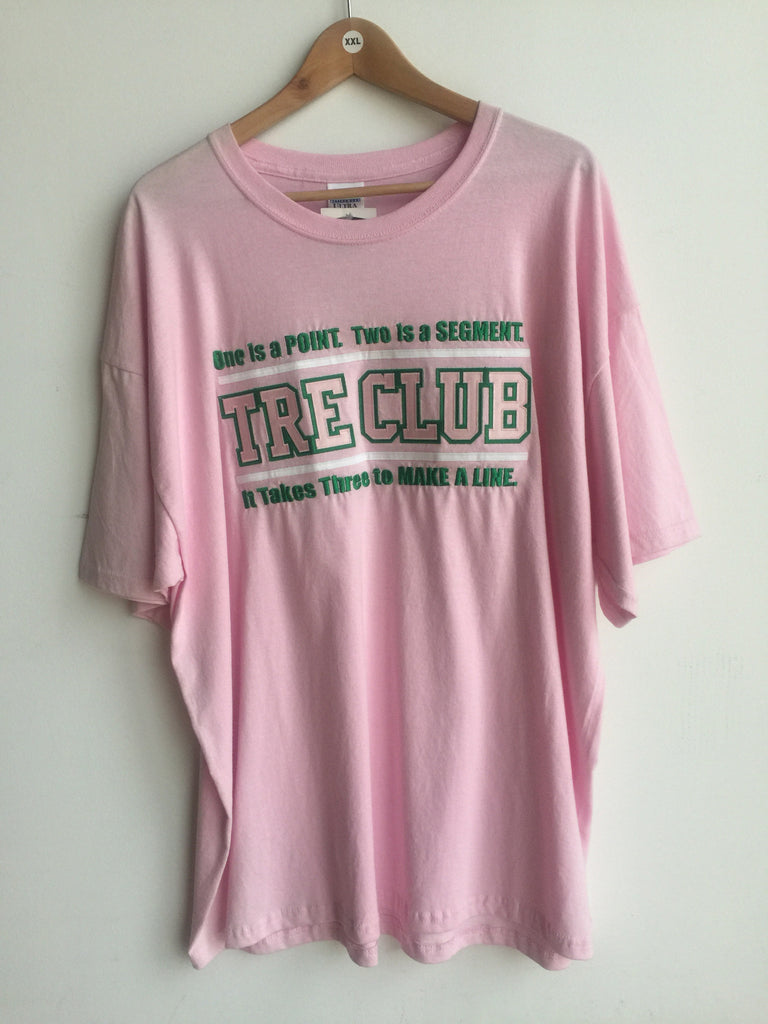 Size 2XL: Tre Club T-Shirt, Pink - EMBROIDERED with Lifetime Guarantee