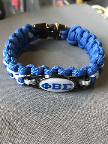 Phi Beta Sigma Braided Bracelet
