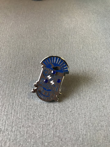 Phi Beta Sigma Shield Lapel Pin with Crystals