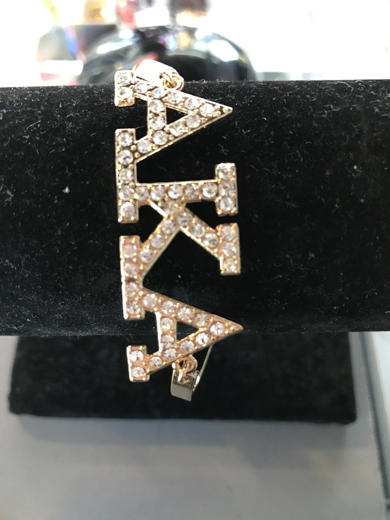 Alpha Kappa Alpha Letter Bling Bangle Bracelet