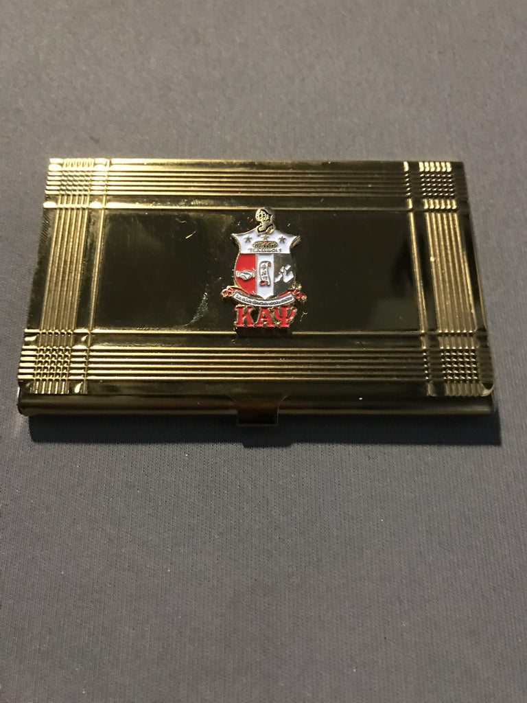 Kappa Alpha Psi Business Card Holder - Gold