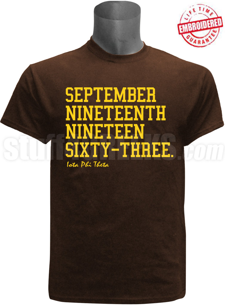 EMB- Founding Year Tee - Iota Phi Theta - Pre-Order for Atlanta Greek Picnic Pick Up At Zeus Closet