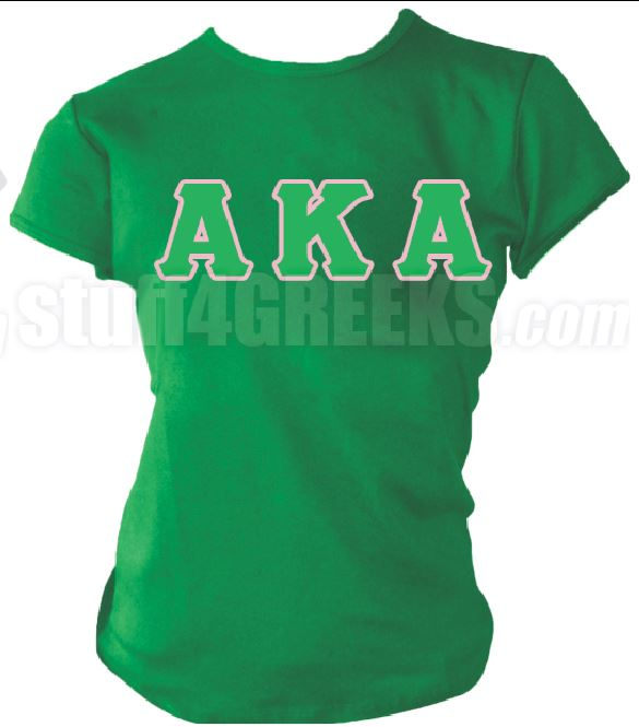 DTG- Letters(Green) Alpha Kappa Alpha AKA- Pre-Order for Atlanta Greek Picnic Pick Up At Zeus Closet