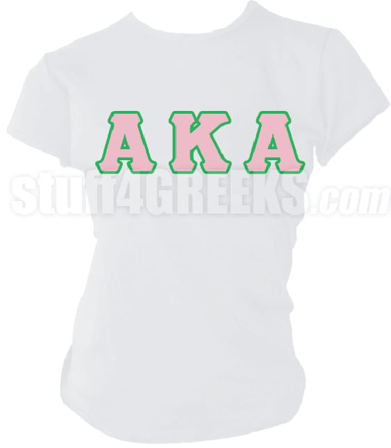 DTG- Letters(White) Alpha Kappa Alpha AKA- Pre-Order for Atlanta Greek Picnic Pick Up At Zeus Closet