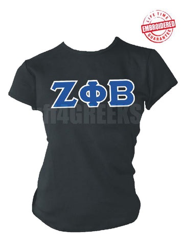 EMB-Letters(Black)Zeta Phi Beta- Pre-Order for Atlanta Greek Picnic Pick Up At Zeus Closet