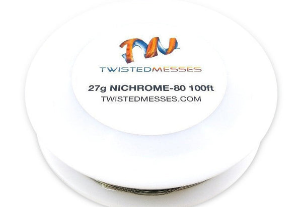 Twisted Messes Nichrome 80- 100ft - 27g-Accessories-Twisted Messes-EraVape