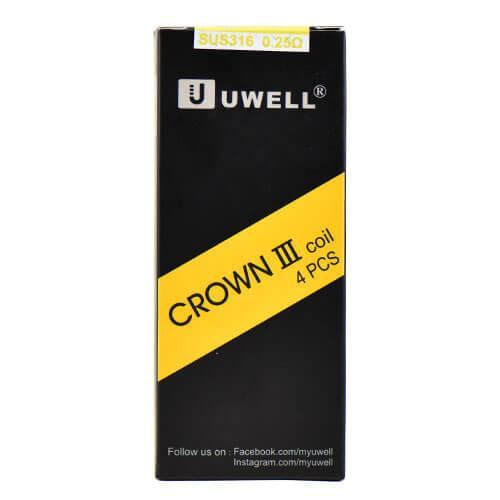 UWELL CROWN 3 III REPLACEMENT COILS 0.25OHM (4-PACK)-Coils-Aspire-EraVape