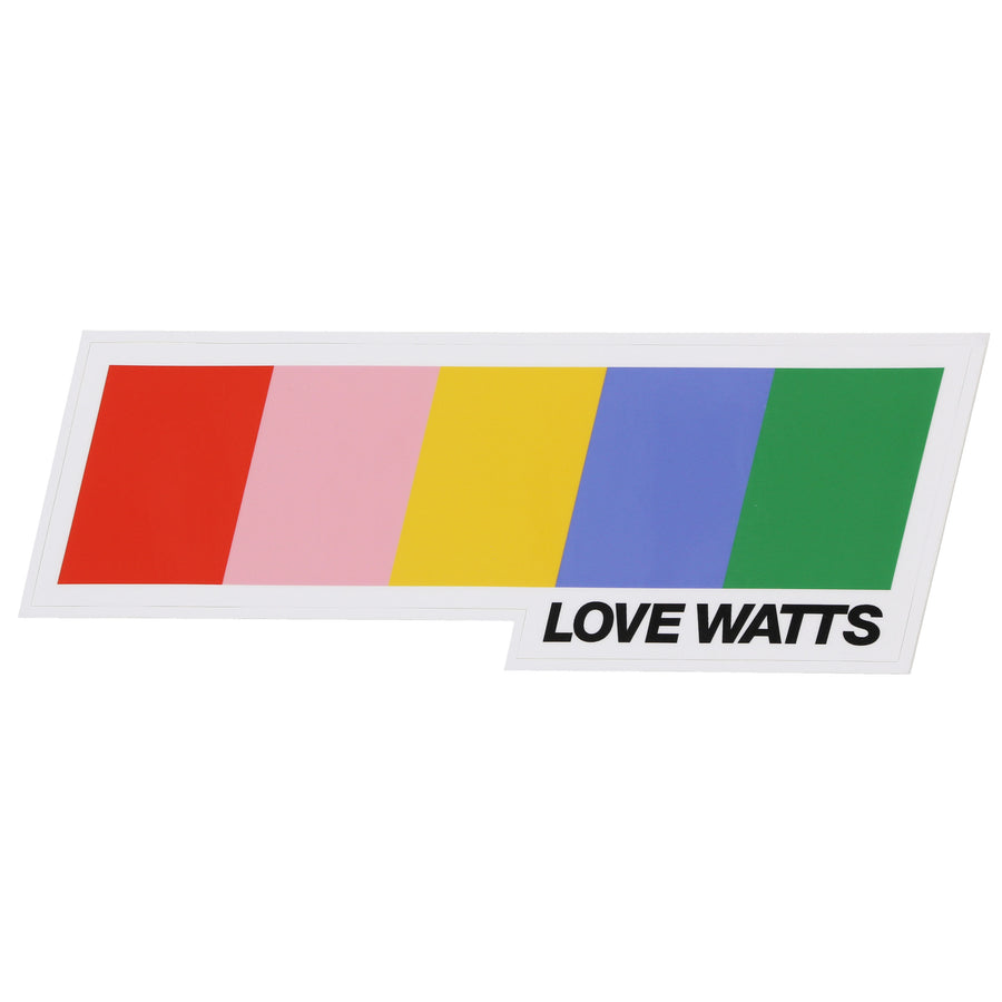 LOVE WATTS LOGO LARGE STICKER IMAGE