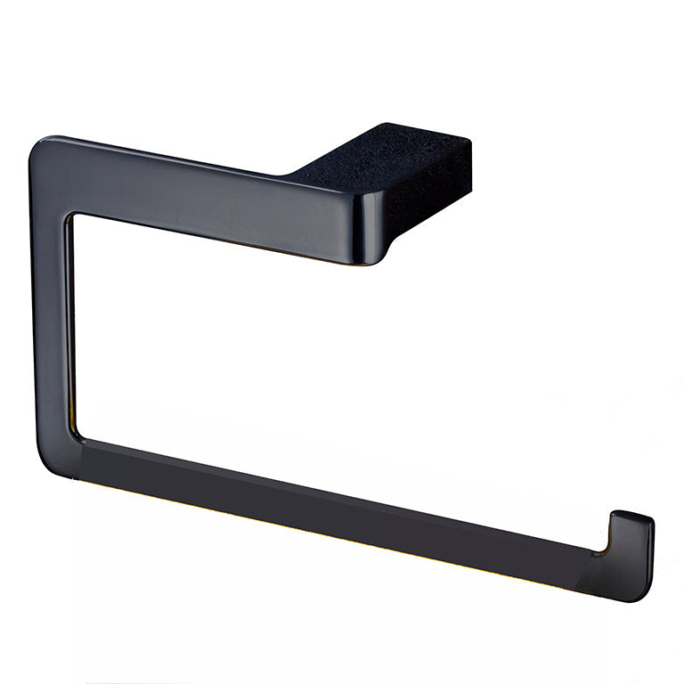 Yass matte black towel ring holder