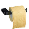 Yass matte black toilet paper holder without cover