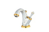 Artica Chrome Gold single hole bathroom sink faucet with Swarovski crystals