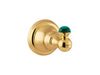 Atlantica Precious gold towel hook with malachite stone inlaid