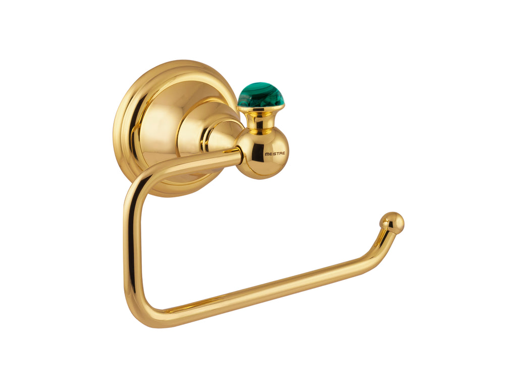 Atlantica Precious gold toilet paper holder with malachite stone inlaid