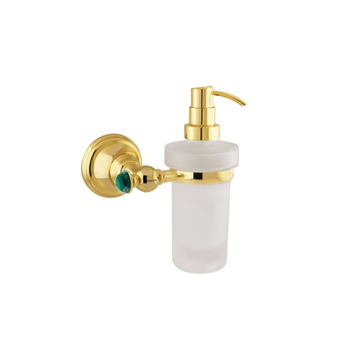 Atlantica Precious gold wall soap dispenser with Malachite stone inlaid