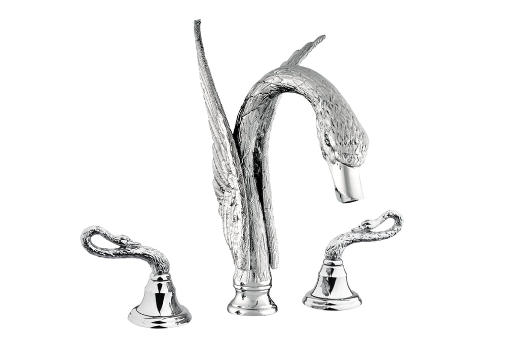 Antarctica Swan 2-handle bathroom widespread sink faucet .