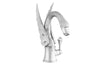 Antarctica Swan Monolevel bathroom vessel sink faucet  with Swarovski crystal