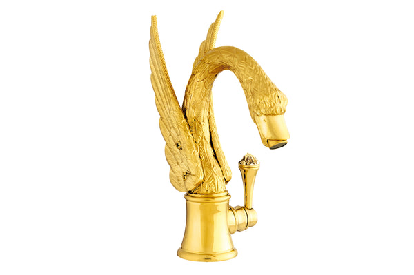 Antarctica Swan Single hole bathroom sink faucet.