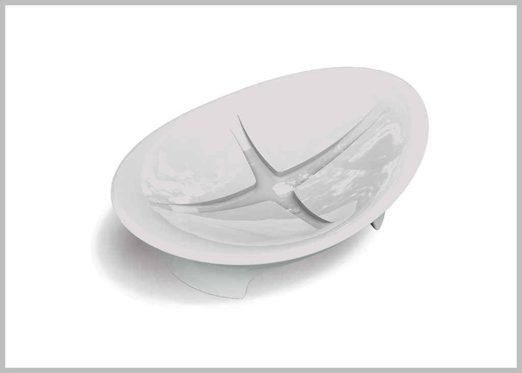 Amara soft white porcelain table soap dish.