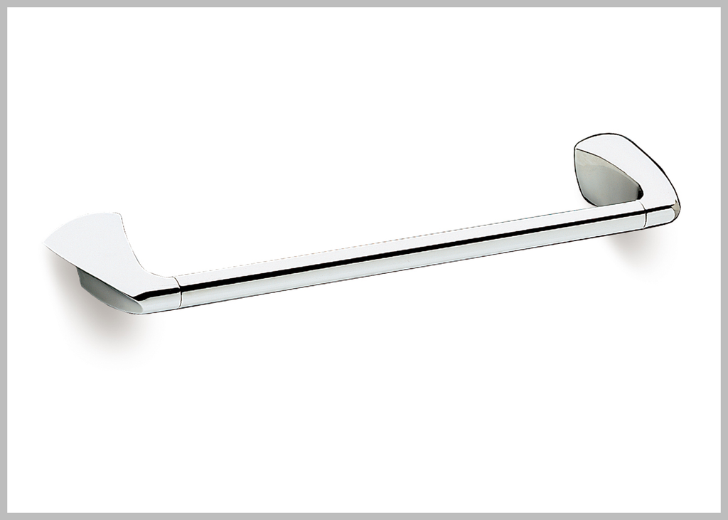 "Alada Polished chrome 20"" towel bar. Medium towel rail"