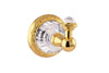 Strass Luxury gold towel hook with customized Swarovski crystals. Decorated plate