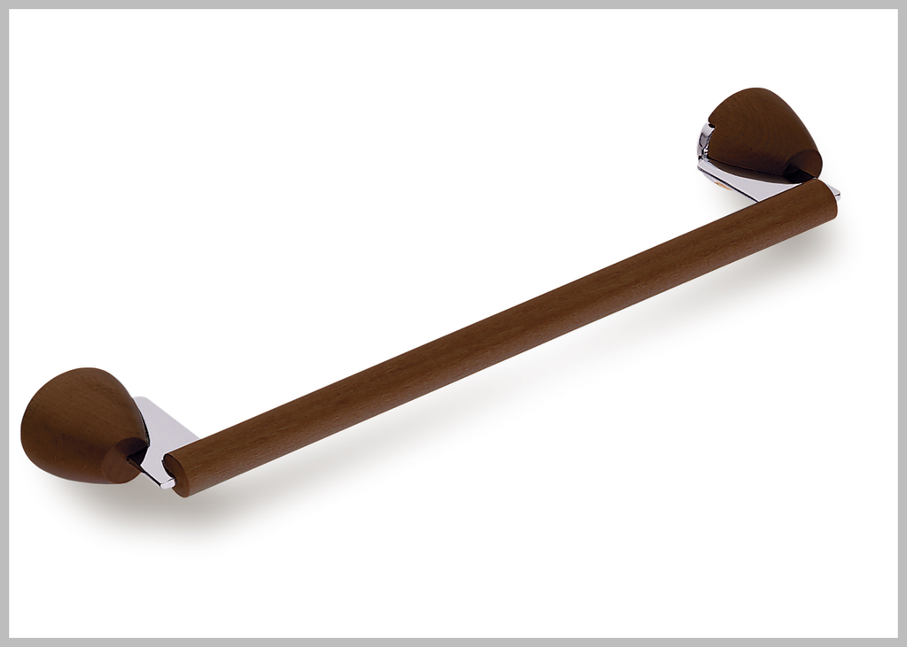 "Secret Bath. Walnut 24"" Towel Bar. Testa collection. Walnut finished"