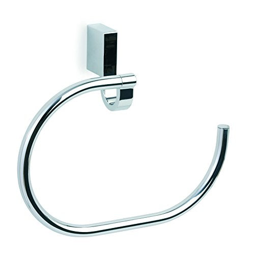 Bilbao chrome towel ring holder