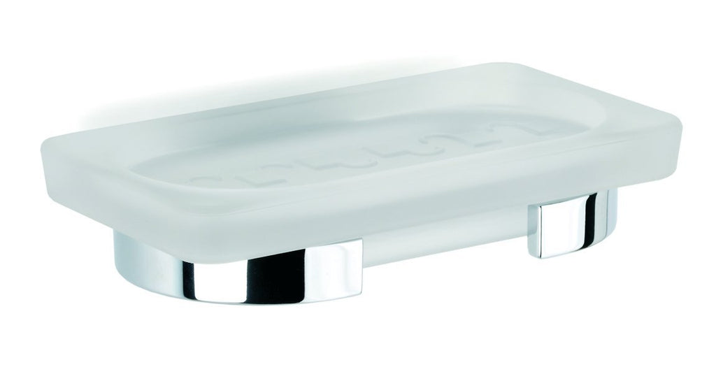 Bilbao frosted glass wall soap dish