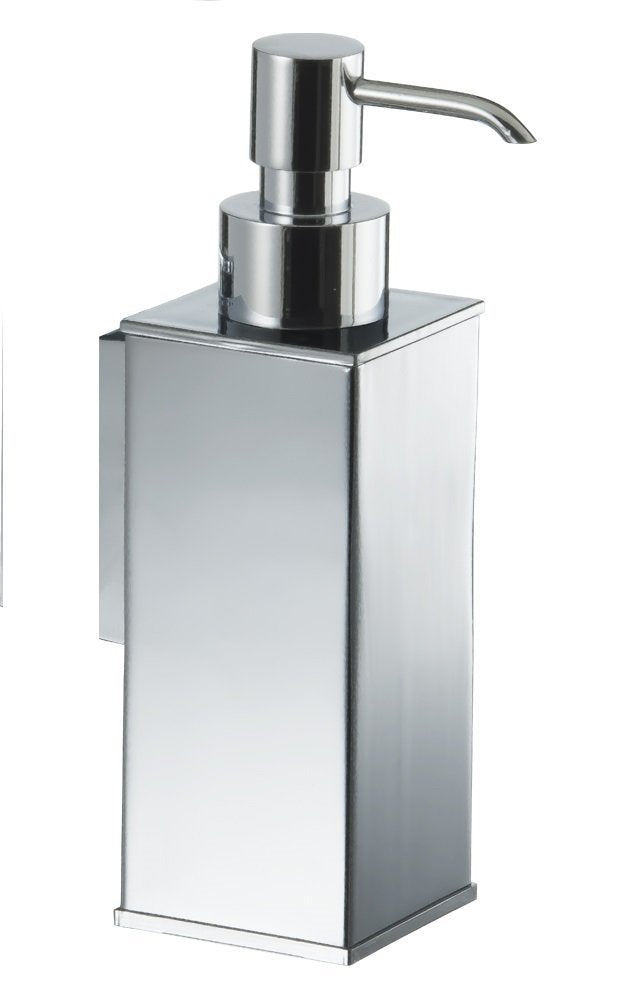 Chloe Chrome wall soap dispenser. Bathroom accessories. Modern bath