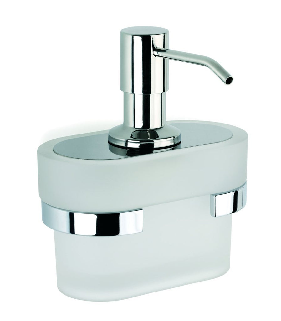 Bilbao wall frosted glass soap dispenser