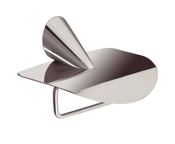 Nova Polished chrome toilet paper holder with lid.