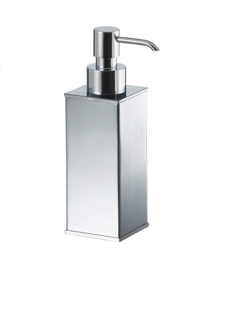 Chloe polished chrome square table soap dispenser.