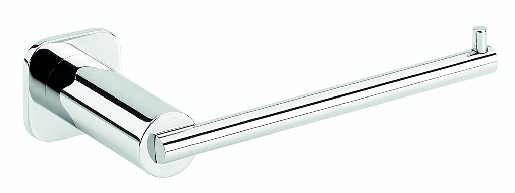 Jenny polished chrome toilet paper holder without lid. Bath tissue holder