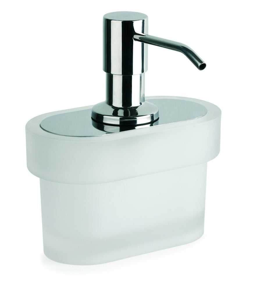 Bilbao frosted glass freestanding soap dispenser