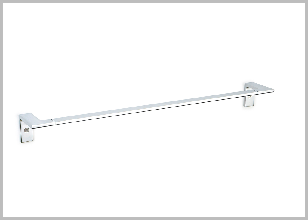 Orio polished chrome towel bar . Towel rail/towel rack