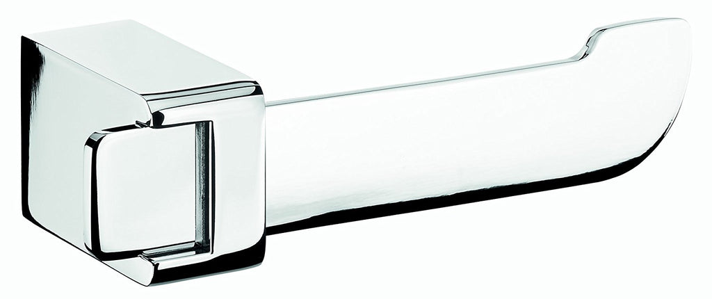 Alice polished chrome toilet paper holder without lid. Bath tissue holder