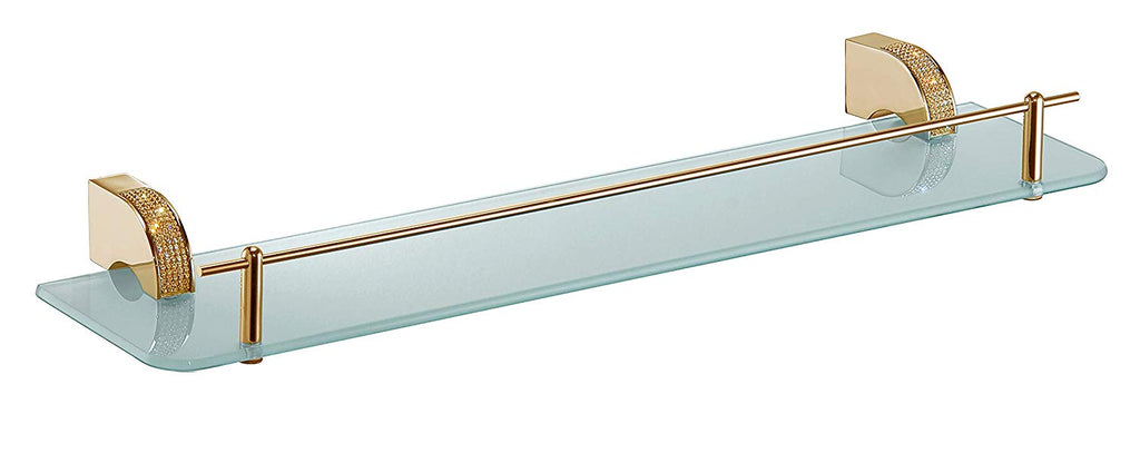 Cecilia Luxury Gold Swarovski® Crystals bathroom glass shelf, Limited Edition