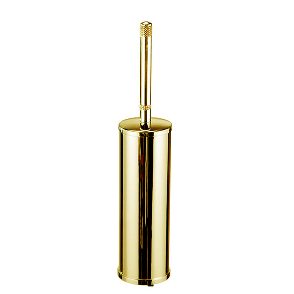 Cecilia free standing toilet brush holder with Swarovski crystals