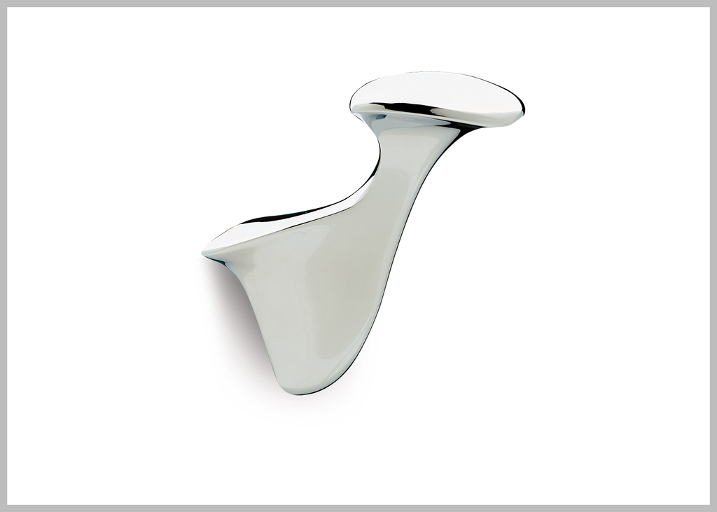 Alada Polished chrome Towel hook. Robe hook