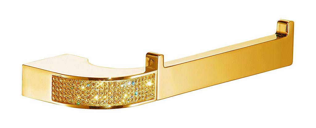 Cecilia Luxury Gold toilet paper holder. Gold Swarovski®crystals inlaid.Limited Edition