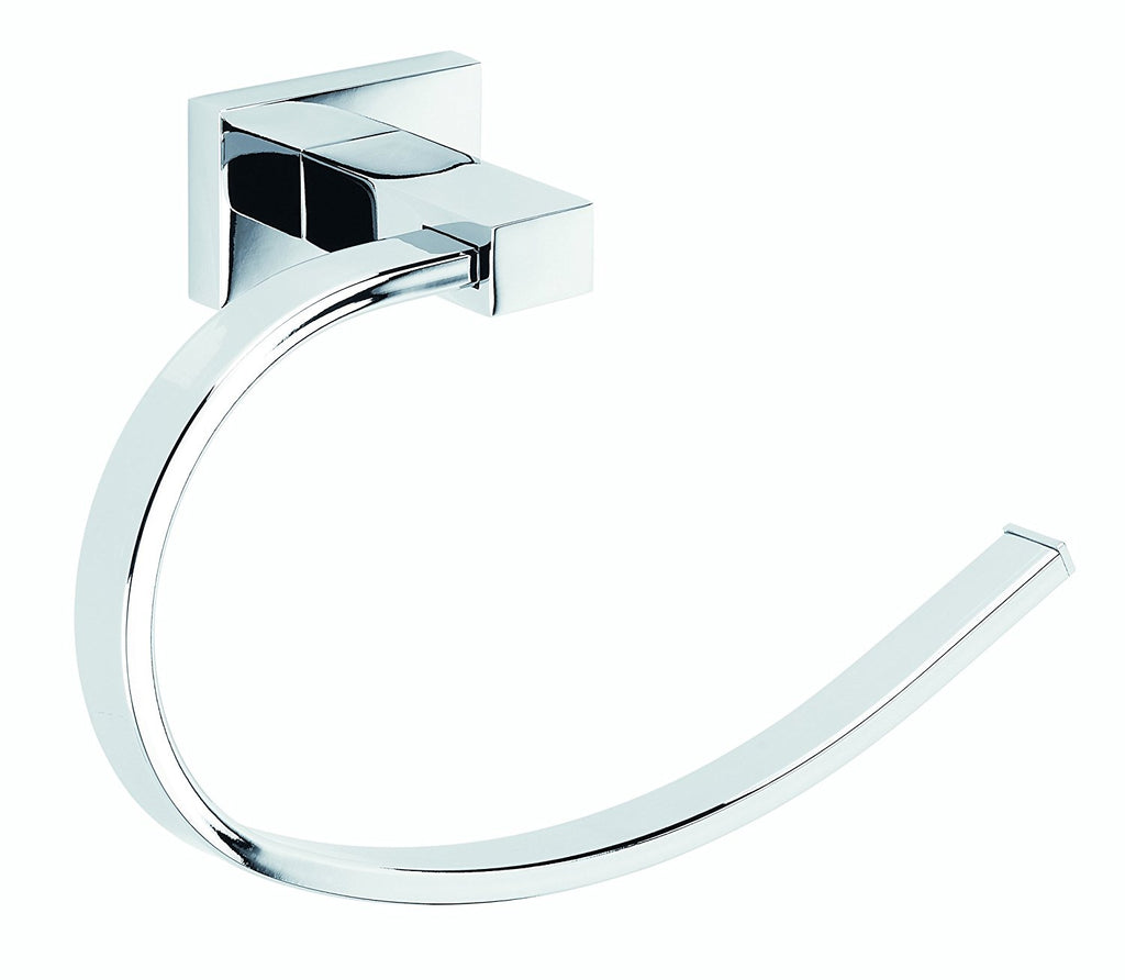 Albany Polished chrome large towel ring.