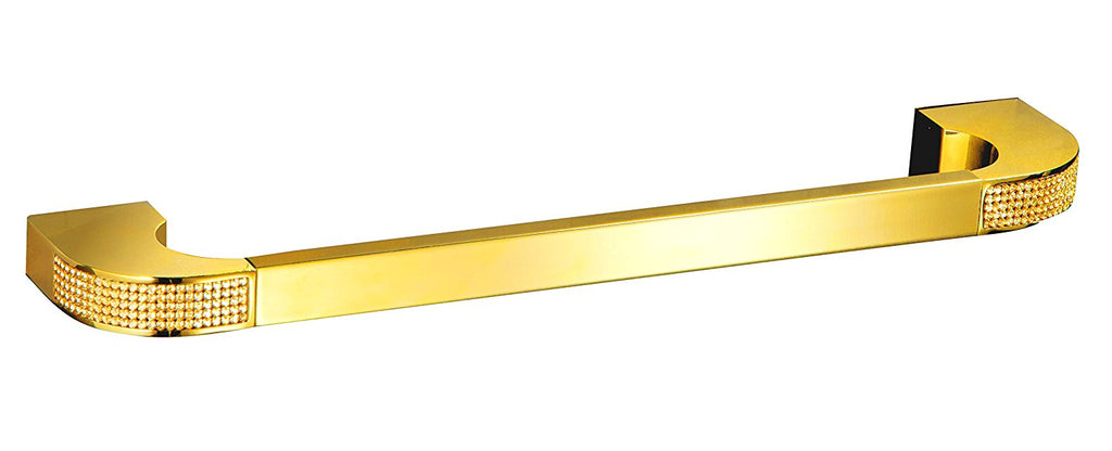 "Cecilia luxury gold 13.7"" small towel bar. Gold Swarovski® crystals inlaid. Limited Edition"