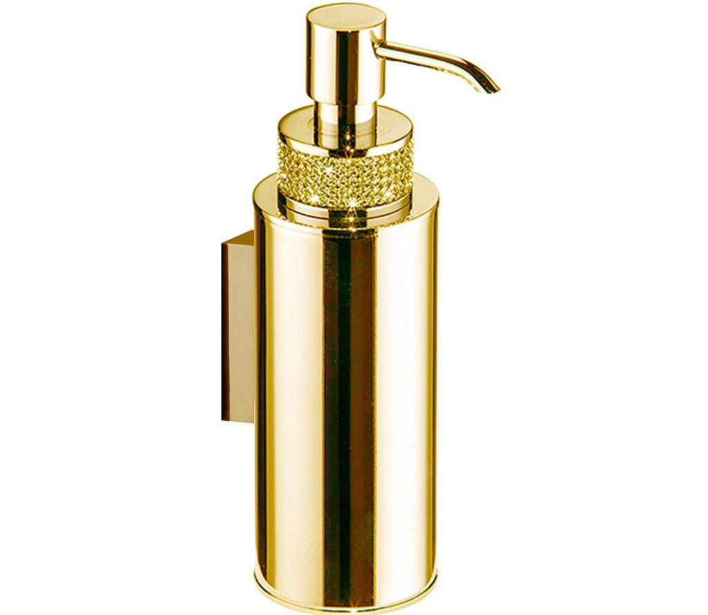 Cecilia luxury gold wall soap dispenser. Gold Swarovski®crystals inlaid.Limited edition