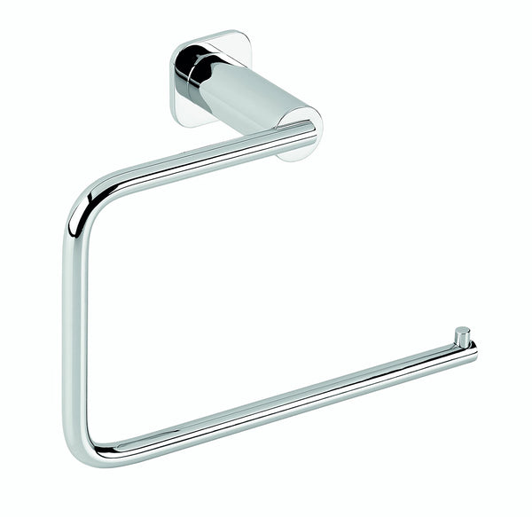 Jenny polished chrome small towel ring. Hand towel holder