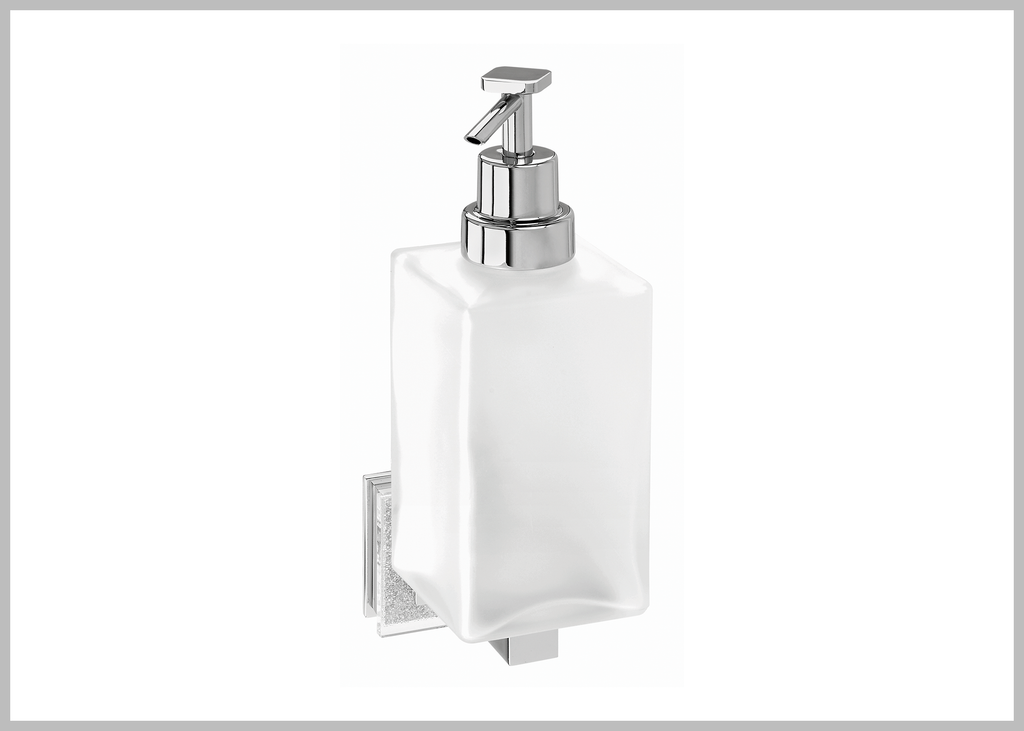 Alexa wall soap dispenser with Swarovski crystals