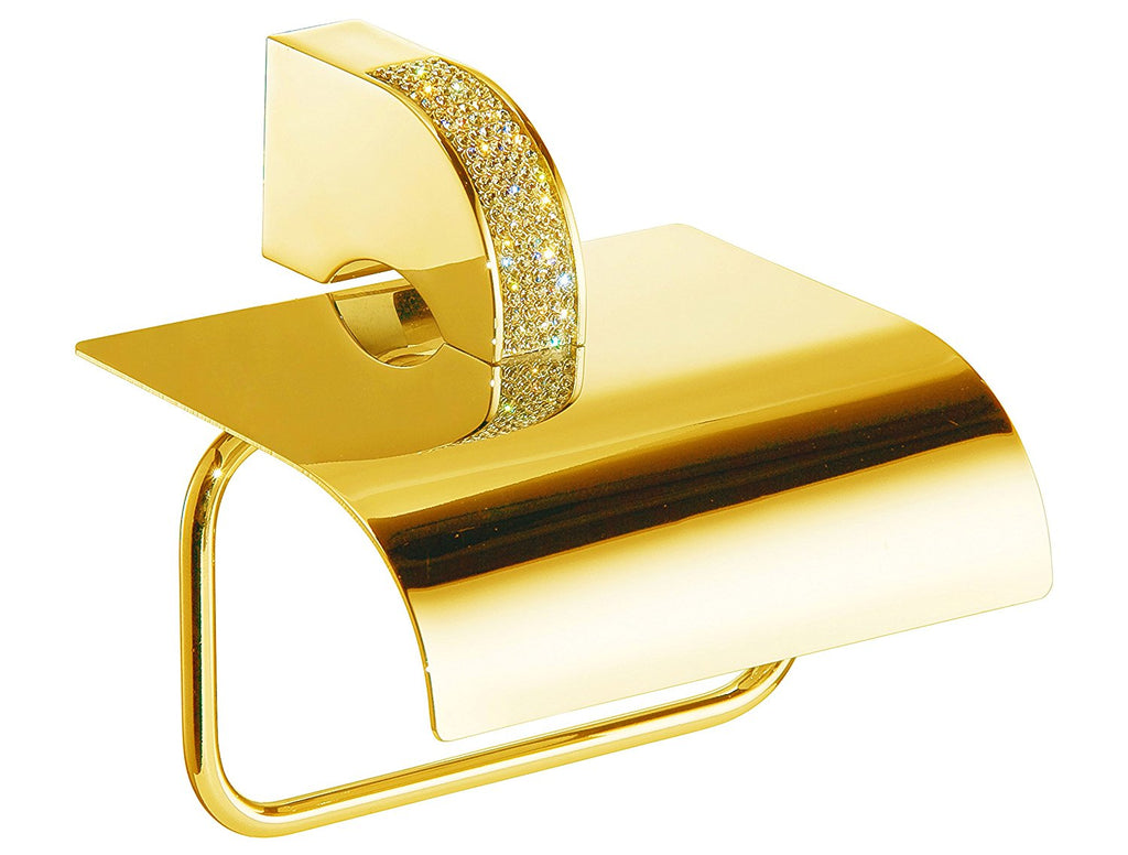 Cecilia luxury gold Swarovski® crystals toilet paper holder, Limited edition