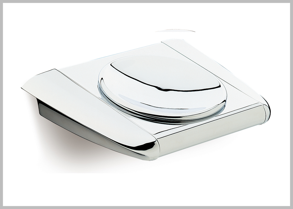 Alada Polished chrome wall mounted soap dish.