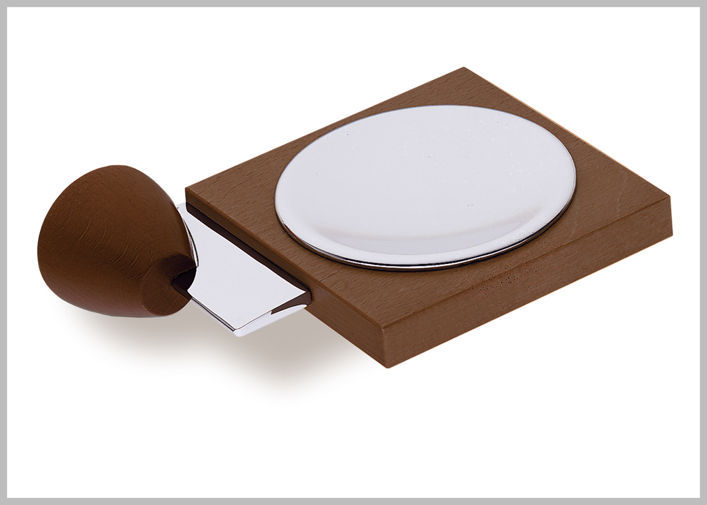 Testa chrome-walnut soap dish.