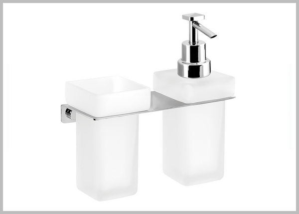 Sidney wall toothbrush and soap dispenser combo set.